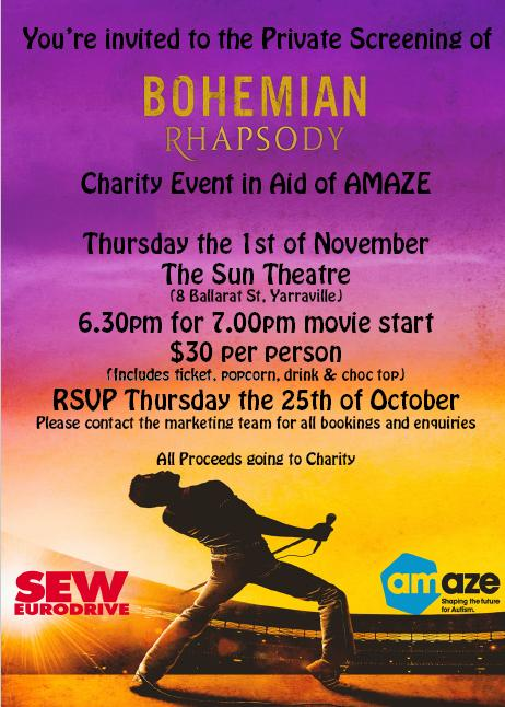 Charity Event in Aid of Amaze